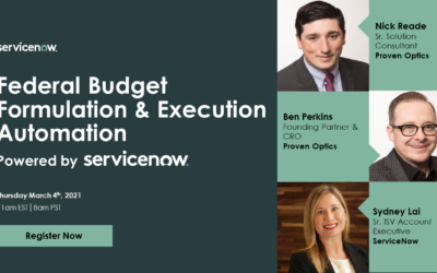 Webinar: Federal Budget Formulation & Execution Automation Powered by ServiceNow